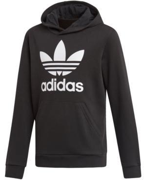 Adidas Big Boys Logo-Print French Terry Hoodie