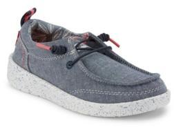 Levi's Little Boys Newt Chambray Slip-On Fashion Sneaker
