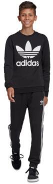 Adidas Big Boys Trefoil Logo French Terry Sweatshirt