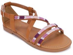 Sugar Big Girls Strappy Beaded Sandals