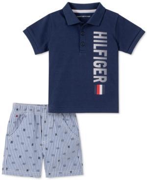 Tommy Hilfiger Baby Boys 2-Pc. Logo Polo & Oxford Shorts Set