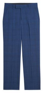 Calvin Klein Big Boys Stretch Textured Plaid Pants