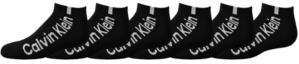 Calvin Klein Big Boys No Show Performance Socks, 6 Pack