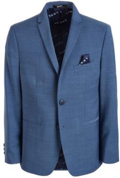 Dkny Solid Blue Suit Jacket, Big Boys