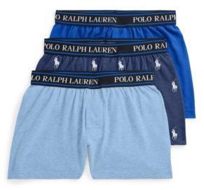 Polo Ralph Lauren Big Boys Stretch Knit Boxers, 3-piece Set