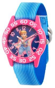 Ewatchfactory Girl's Disney Toy Story 4 Bo Peep Blue Plastic Time Teacher Strap Watch 32mm