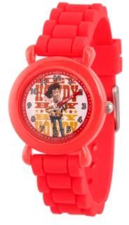 Ewatchfactory Boy's Disney Toy Story 4 Woody Red Plastic Time Teacher Strap Watch 32mm