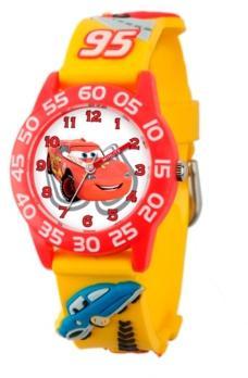 Ewatchfactory Disney Cars Boys' 3D Red Plastic Time Teacher Watch