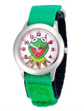 Ewatchfactory Disney Kermit Boys' Stainless Steel Time Teacher Watch