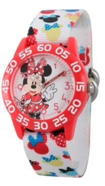 Ewatchfactory Disney Minnie Mouse Girls' Red Plastic Time Teacher Watch