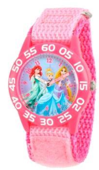 Ewatchfactory Disney Princess Ariel, Cinderella and Rapunzel Girls' Pink Plastic Time Teacther Watch