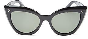 Oliver Peoples Women's Laiya Polarized Cat Eye Sunglasses, 55mm