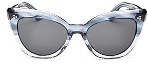 Oliver Peoples Women's Cat Eye Sunglasses, 55mm