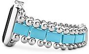 Lagos Smart Caviar Blue Ceramic Apple Watch Bracelet, 38mm