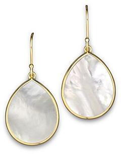 Ippolita 18K Gold Polished Rock Candy Teardrop Earrings in Mother-Of-Pearl