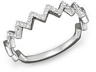 Bloomingdale's Diamond Zigzag Ring in 14K White Gold, 0.10 ct. t.w.