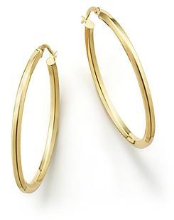Bloomingdale's 14K Yellow Gold Oval Hoop Earrings - 100% Exclusive