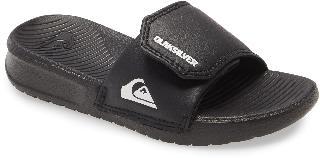 Quiksilver Boy's Kids' Bright Coast Adjustable Slide Sandal, Size 4 M - Black