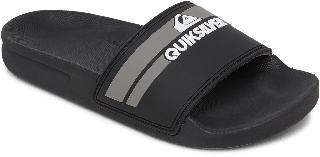 Quiksilver Boy's Rivi Sport Slide, Size 4 M - Black