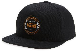 Vans Boy's Kids' Checkerboard Logo Baseball Cap - Black