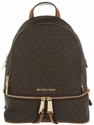 Michael Kors Backpacks - Rhea Zip MD Backpack - brown - Backpacks for ladies