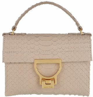 Coccinelle Clutches - Mignon Python Lulala Mini Bag - beige - Clutches for ladies