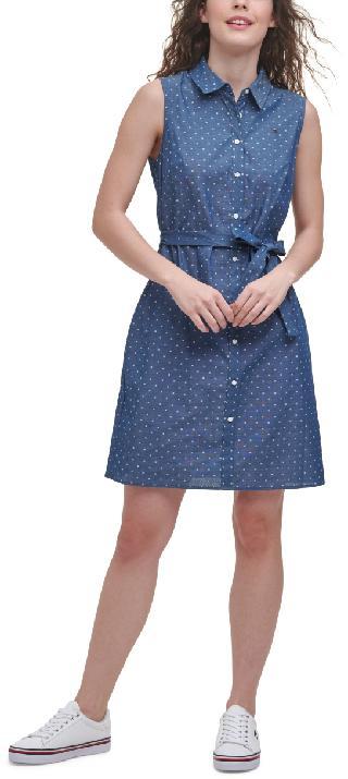 Tommy Hilfiger Cotton Printed Shirtdress