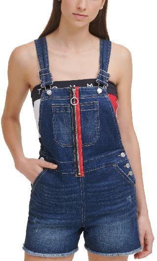 Tommy Jeans Zip-Front Denim Overalls