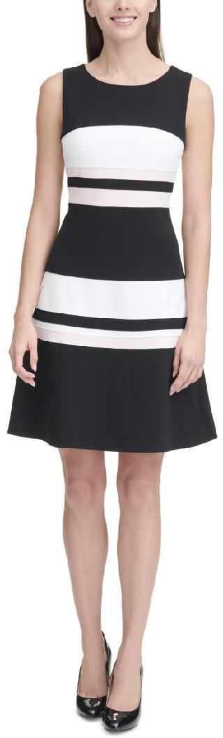 Tommy Hilfiger Striped Fit & Flare Dress