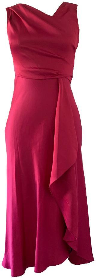 Taylor Waterfall-Skirt Gathered Dress