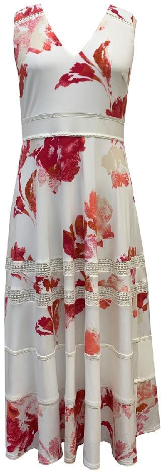Taylor Lace-Trim Printed Dress