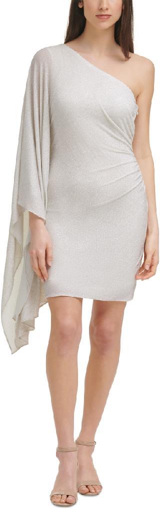 Vince Camuto One-Shoulder Metallic Bodycon Dress