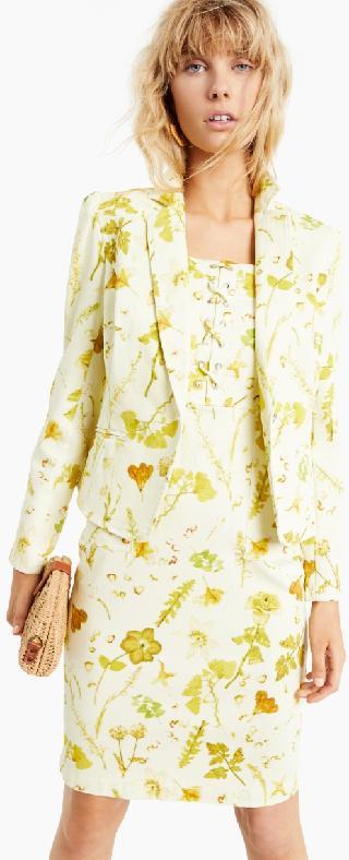 Inc International Concepts Inc Floral-Print Denim Blazer, Created for Macy's