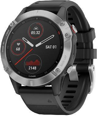Garmin Unisex Fenix 6 Sport Black Silicone Strap Smart Watch 33.02mm