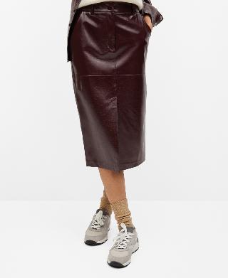 Mango Women's Pencil Patent Skirt