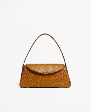Mango Women's Baguette Flap Saddle Bag