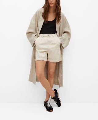 Mango Women's Linen Trench Coat