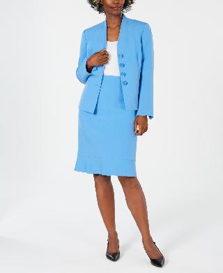 Le Suit Flared Skirt Suit