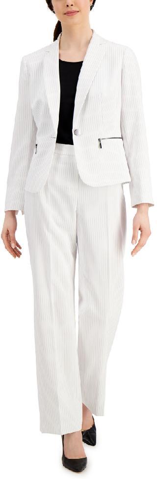Le Suit Pinstripe Pant Suit
