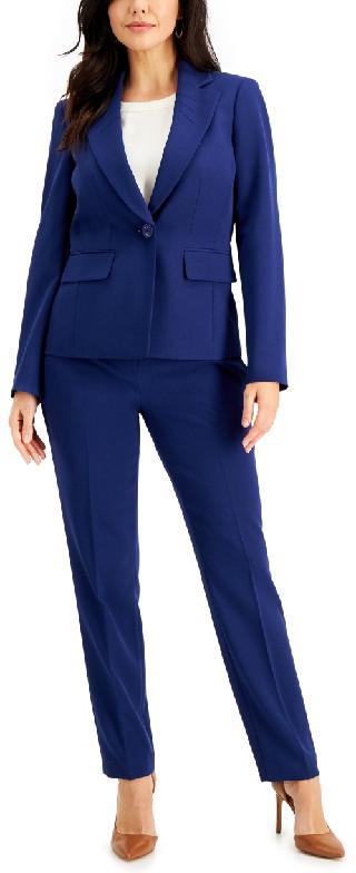 Le Suit Single-Button Crepe Pantsuit
