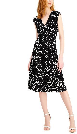 Anne Klein Julie Printed Sleeveless Midi Dress