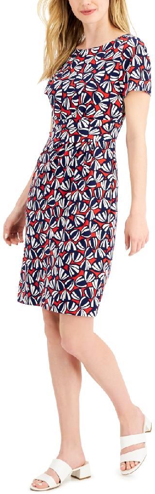 Anne Klein Printed Jersey Sheath Dress