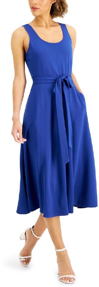 Anne Klein Serenity Knit Belted Midi Dress