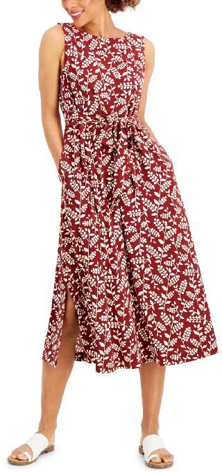 Anne Klein Printed Jersey Midi Dress