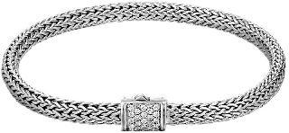 JOHN HARDY Classic Chain Tiga' diamond sterling silver bracelet