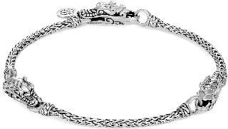 JOHN HARDY Legends Naga' silver station chain bracelet