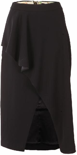 Ted Baker Daffnie Frill Front Asymmetric Skirt